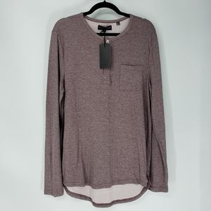 Five Four ¼ Button Lamont Pullover High Low Shirt